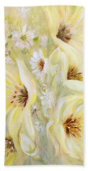 Lemon Chiffon Beach Towel