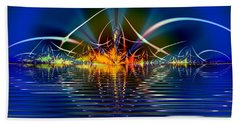 Beach Towel featuring the digital art Light On The Water by Mario Carini