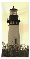 Beach Towel featuring the photograph Lighthouse Tranquility by Athena Mckinzie