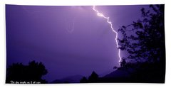 Lightning Over The Rogue Valley Beach Towel
