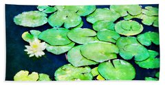 Lily Pads And Lotus Beach Towel