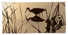 Limpkin At Dawn Beach Towel