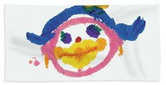 Lipstick Face Beach Towel