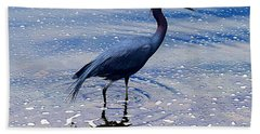Beach Towel featuring the photograph Lit'l Blue by Elizabeth Winter