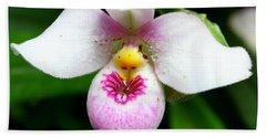 Little White And Pink Orchid Beach Sheet