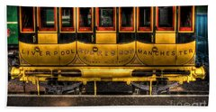 Liverpool Manchester Times Railway Coach Beach Towel