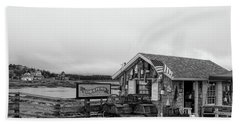 Lobster House Bw Beach Sheet