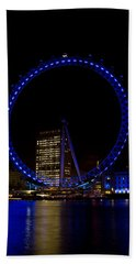 London Eye And River Thames View Beach Sheet