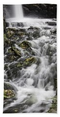 Beach Towel featuring the photograph Longfellow Grist Mill Waterfall by Betty Denise
