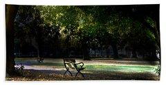 Lonley Park Bench Beach Towel