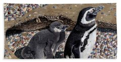 Looking Out For You - Penguins Beach Towel