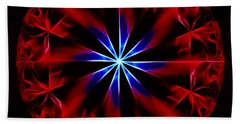 Lost Flames Beach Towel by Danuta Bennett