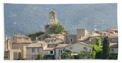 Beach Towel featuring the photograph Lourmarin In Provence by Carla Parris