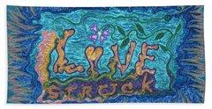 Love Struck Beach Sheet