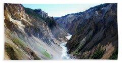 Lower Falls - Yellowstone Beach Sheet by Dany Lison