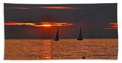 Red Maritime Dream Beach Sheet