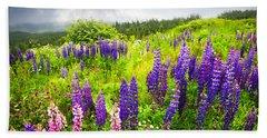Lupin Flowers In Newfoundland Beach Towel