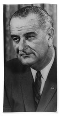 Beach Towel featuring the photograph Lyndon B Johnson by International  Images