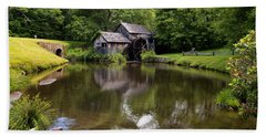 Mabry Mill And Pond Beach Towel