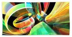 Beach Towel featuring the digital art Magic Rings by Phil Perkins