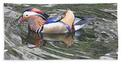 Beach Sheet featuring the photograph Mandarin Duck  by Lydia Holly