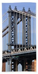 Beach Towel featuring the photograph Manhattan Bridge3 by Zawhaus Photography