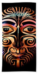 Maori Mask Beach Sheet