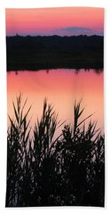Beach Sheet featuring the photograph Marsh Sunset by Clara Sue Beym
