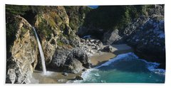 Beach Sheet featuring the photograph Mcway Falls by Lynn Bauer