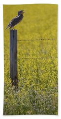 Meadowlark Singing Beach Towel