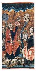 Medieval Astronomers With Astrolabe Beach Towel