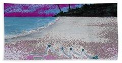 Merry Beachy Christmas Beach Towel
