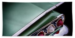 Metalic Green Impala Wing Vingage 1960 Beach Towel