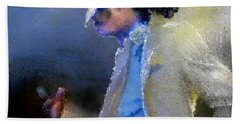 Michael Jackson 10 Beach Towel by Miki De Goodaboom