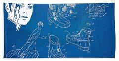 Michael Jackson Anti-gravity Shoe Patent Artwork Beach Towel by Nikki Marie Smith