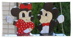 Mickey And Minnie Mouse Beach Towel
