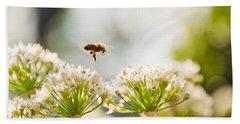 Mid-pollenation Beach Sheet by Cheryl Baxter