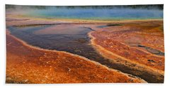 Middle Hot Springs Yellowstone Beach Towel