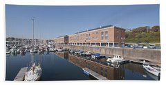 Beach Towel featuring the photograph Milford Haven Marina 2 by Steve Purnell