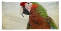 Military Macaw Beach Towel