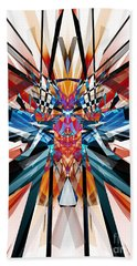 Beach Towel featuring the digital art Mirror Image Abstract by Phil Perkins