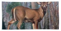 Missouri Whitetail Deer Beach Towel