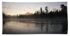 Mist Over The Mississippi Beach Towel by Kent Lorentzen