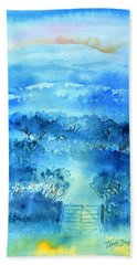 Beach Sheet featuring the painting Misty Morning  Ireland  by Trudi Doyle