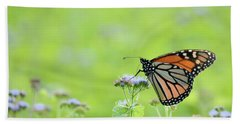 Monarch And Mist Beach Towel
