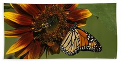 Monarch And The Bee Beach Towel