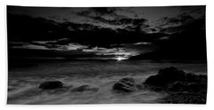 Monochrome Sunset  Beach Towel