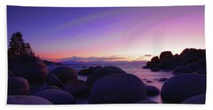 Moonrise Over Tahoe Beach Towel