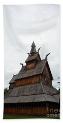Moorhead Stave Church 26 Beach Towel
