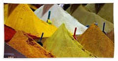 Moroccan Spices Beach Towel
